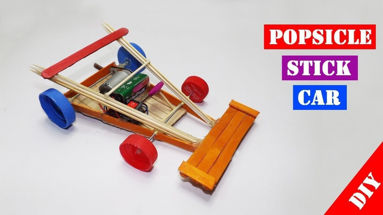 10 Spectacular Craft Ideas With Popsicle Sticks popsicle stick rc car toy for kids easy crafts ideas youtube 2021