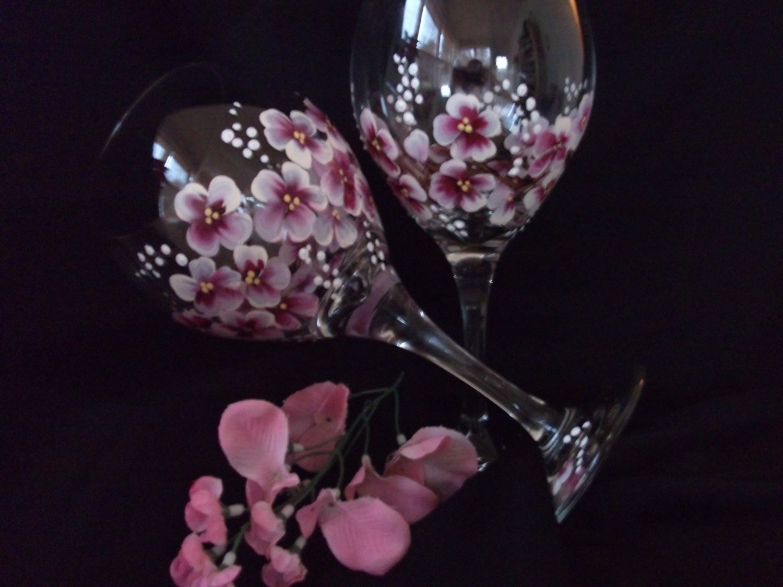 10 Fabulous Hand Painted Wine Glasses Ideas popular hand painted wine glasses paint inspirationpaint inspiration 2020