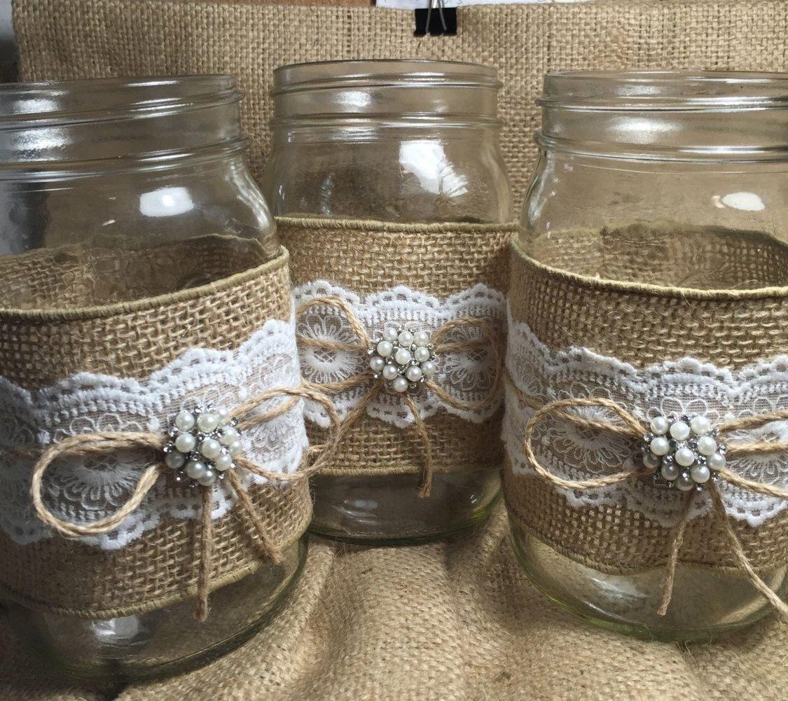 10 Fantastic Country Wedding Ideas Mason Jars popular items for burlap mason jars on etsy mason jars 2020