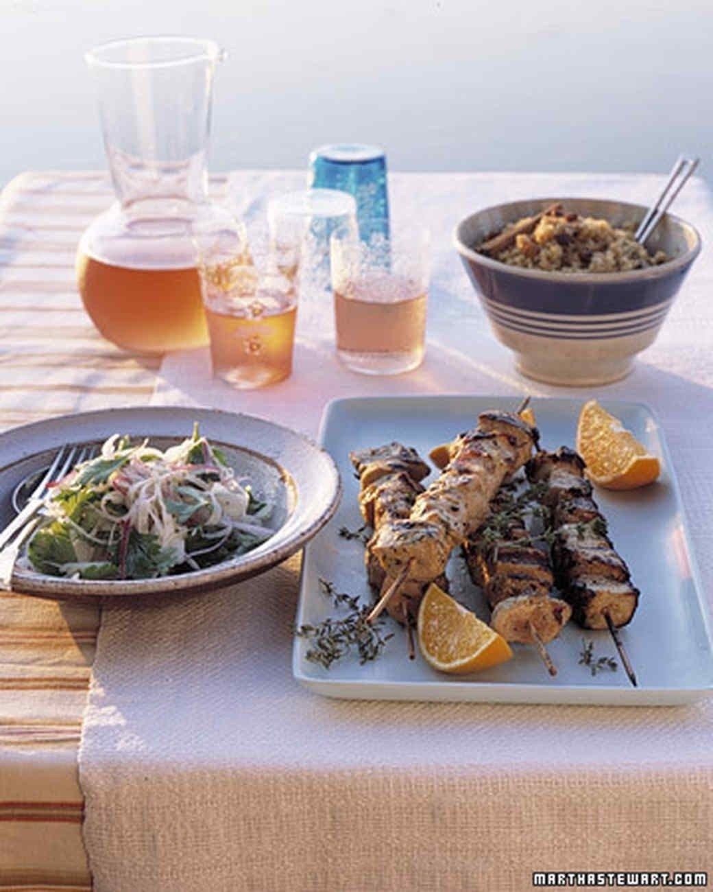 10 Lovable 4Th Of July Menu Ideas Martha Stewart pork kebabs menu martha stewart living add mediterranean flair 2021