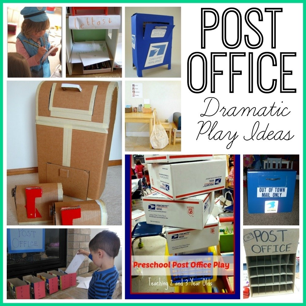 10 Lovely Dramatic Play Ideas For Preschoolers post office dramatic play ideas teaching mama