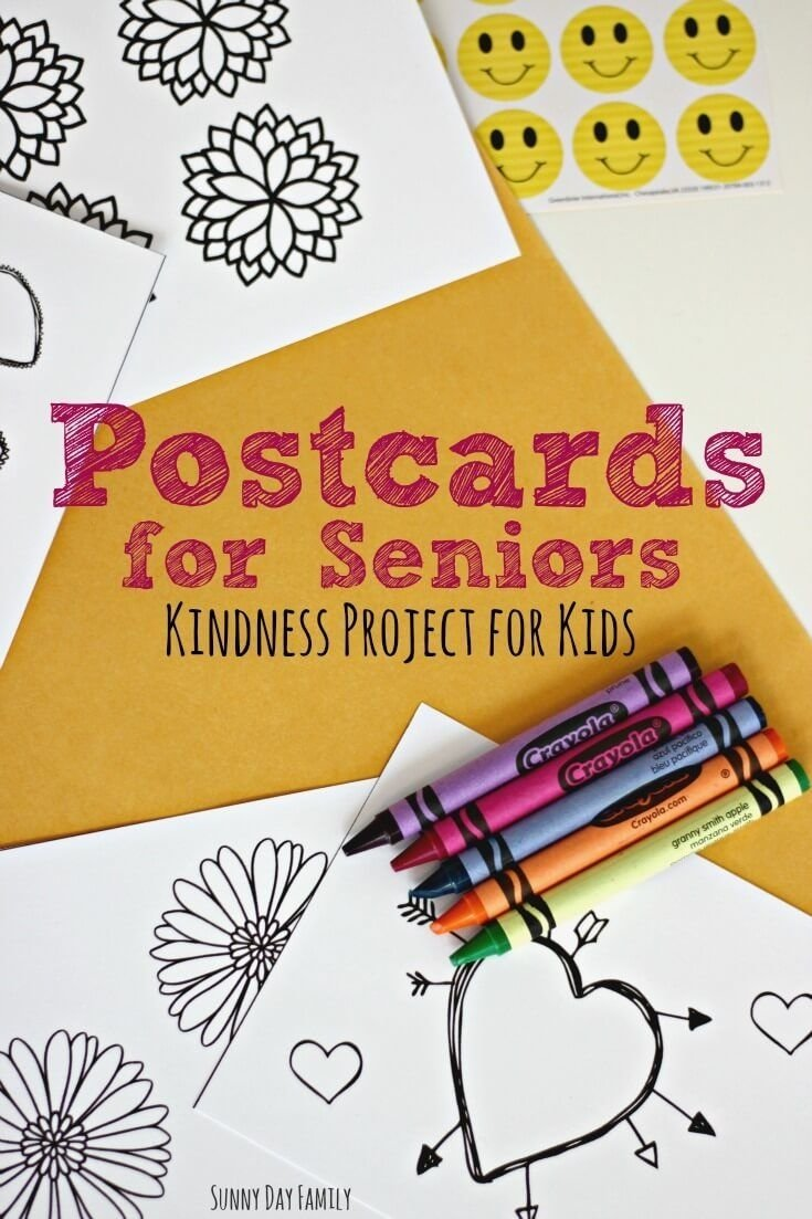 10 Trendy Service Project Ideas For Kids postcards for seniors kindness project for children with free 1 2020
