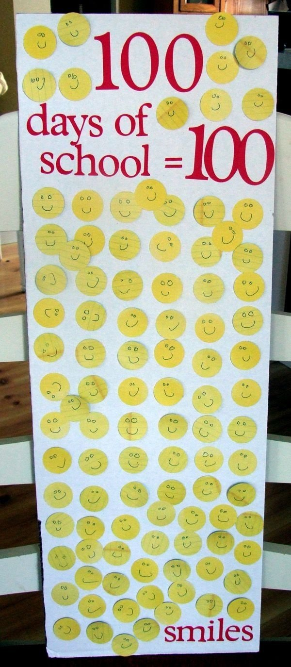 10 Cute 100Th Day Of School Poster Ideas poster board circle punch a marker or pen and poster glue dots