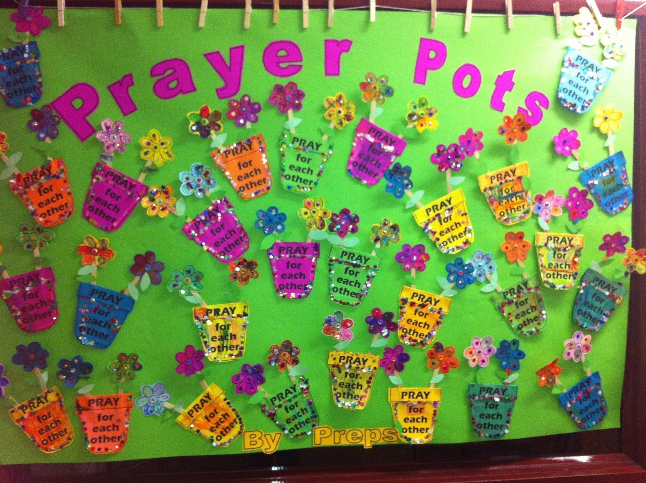 prayer pots | sunday school bulletin boards | pinterest | sunday