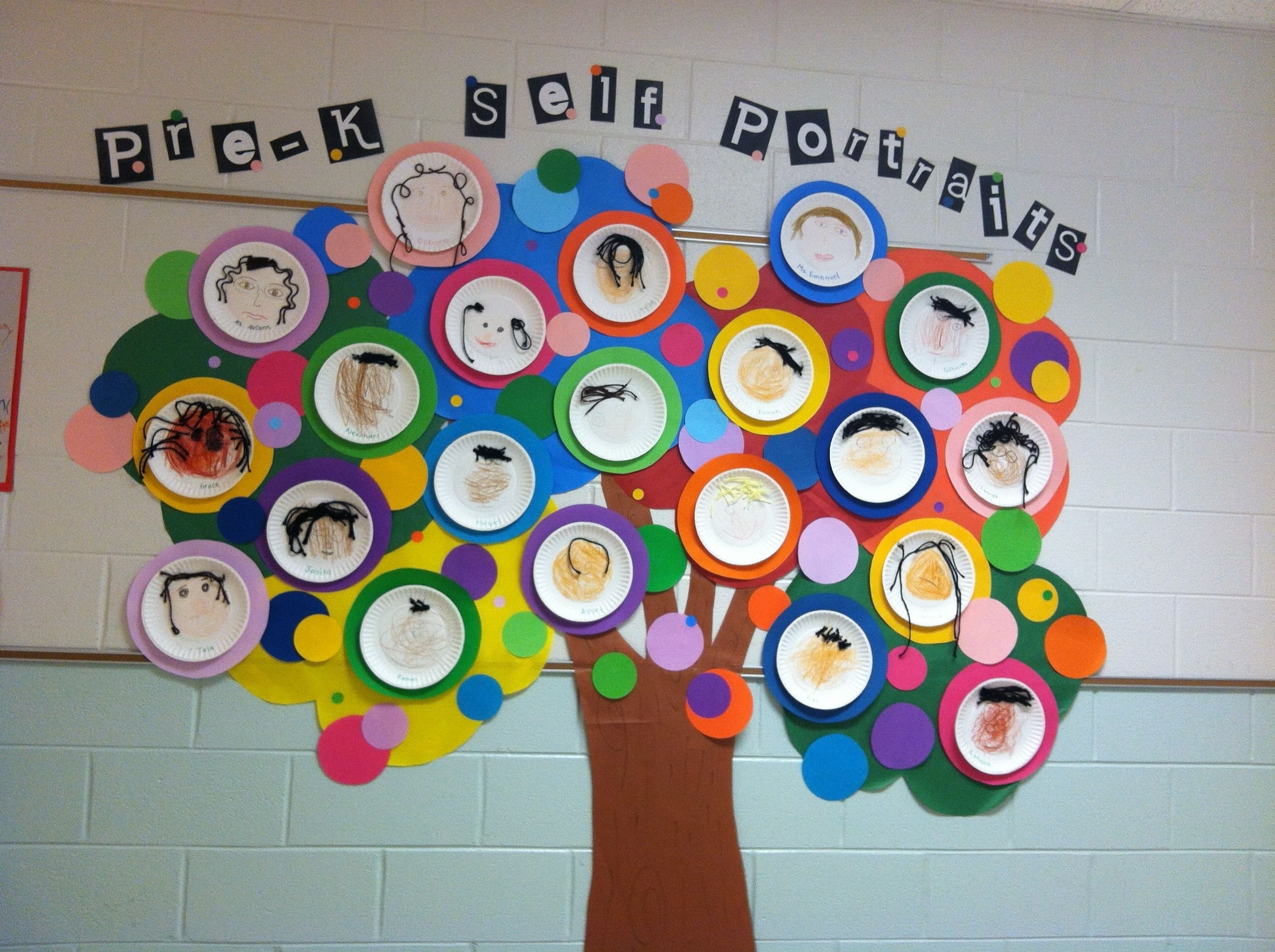 10 Most Recommended All About Me Bulletin Board Ideas pre k self portraits during all about me unit pre k pinterest