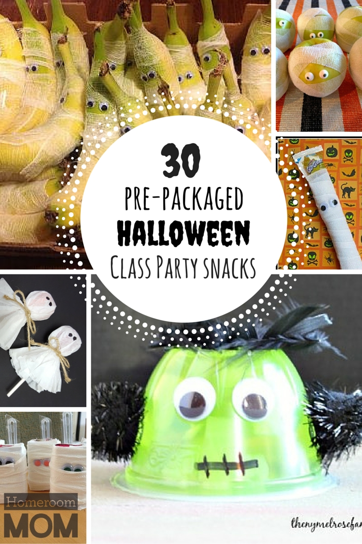 10 Unique Halloween Treat Ideas For School Parties pre packaged halloween class party snack ideas snacks ideas