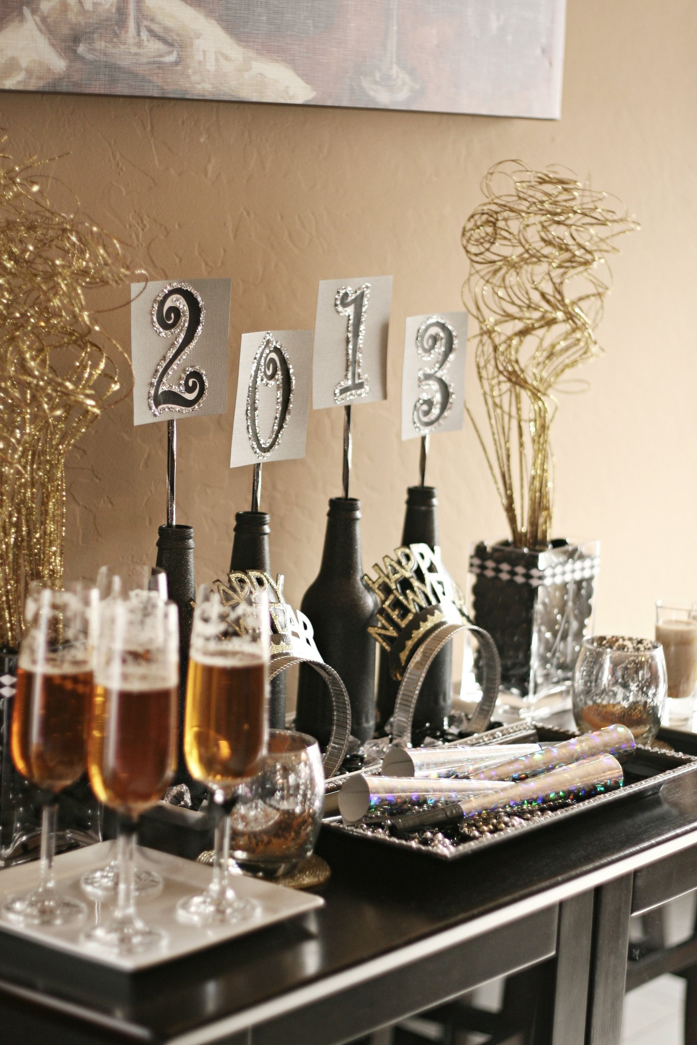 10 Lovable New Years Eve Theme Party Ideas preparing for the new year bottle wine and place holder 2021