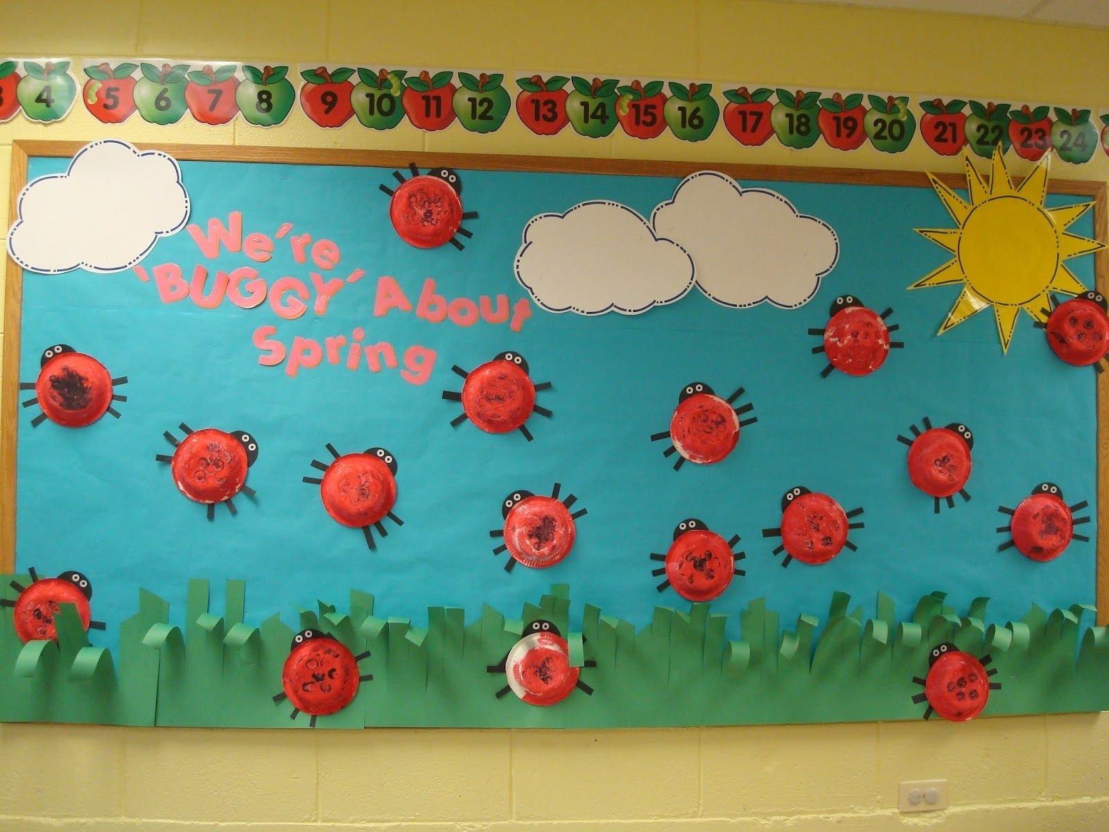 10 Stylish Preschool March Bulletin Board Ideas preschool bullentin board ideas preschool mp lady bug were 2020