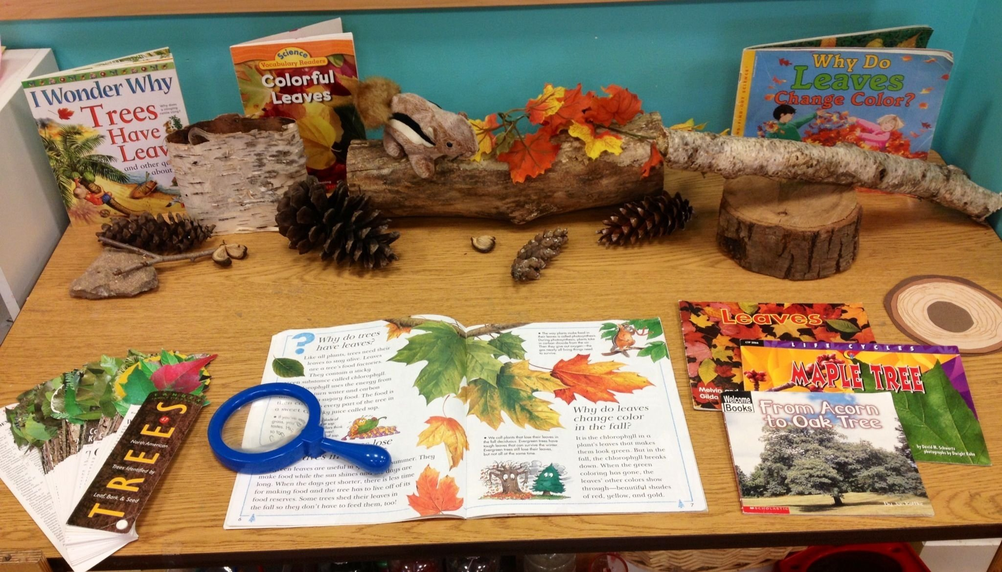 preschool leaf/tree science center | creations from children first