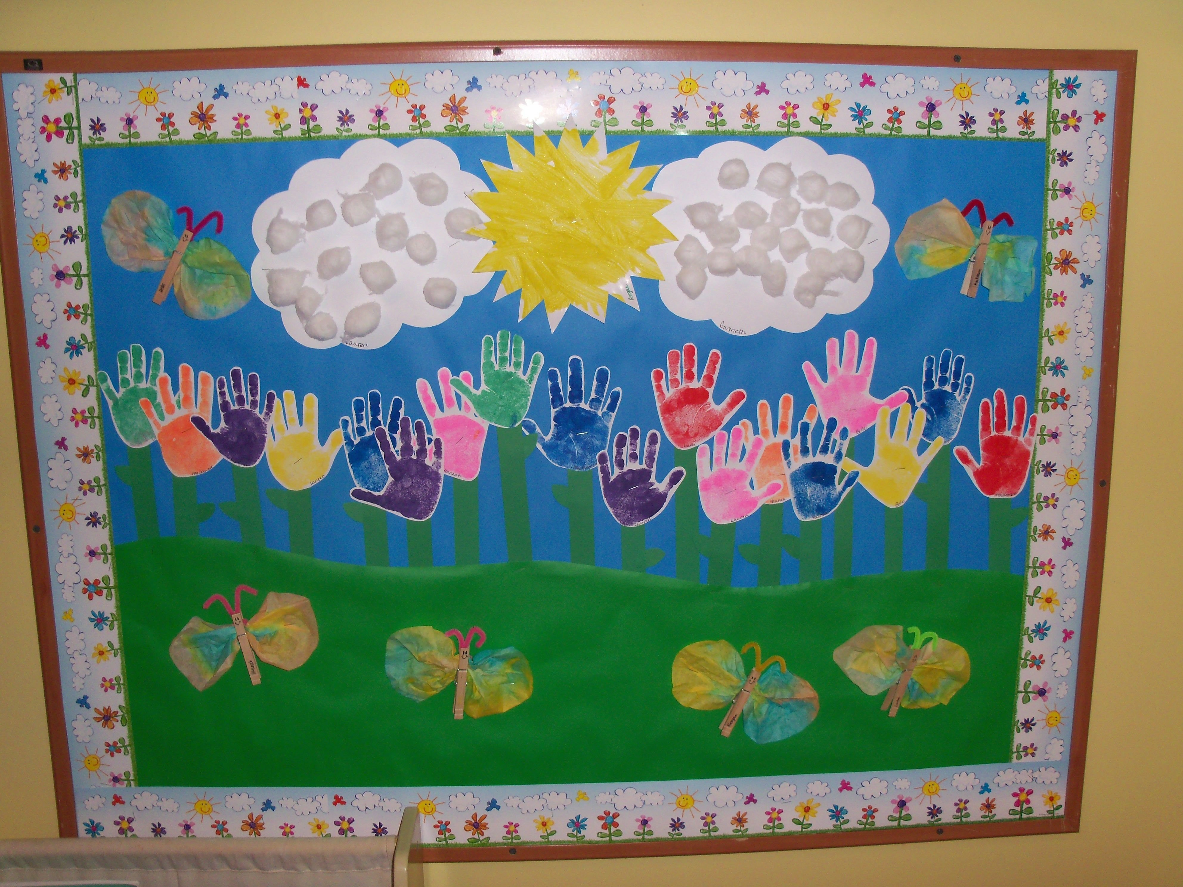 10 Attractive Spring Bulletin Board Ideas Preschool preschool spring bulletin board looks like fun for my daycare 2 2021