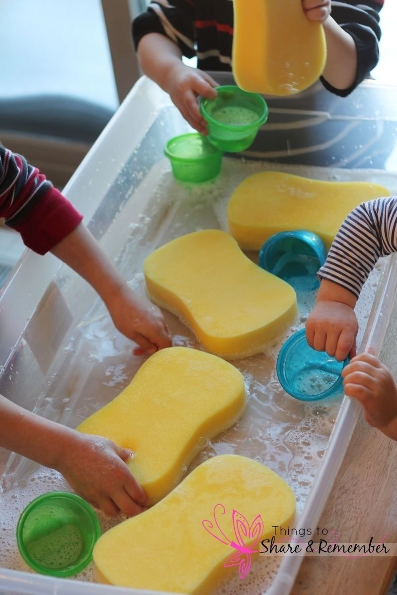 10 Nice Sensory Table Ideas For Toddlers preschool water table ideas sponges in the water table sensory