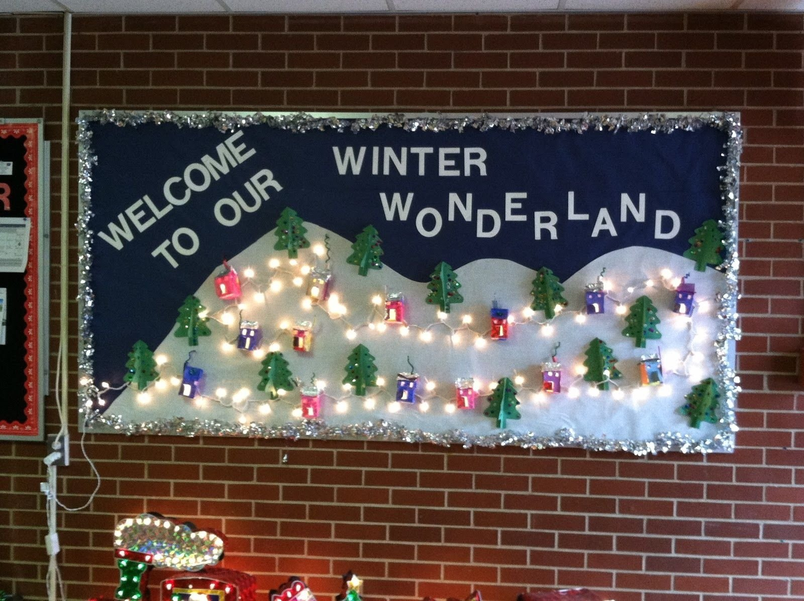 preschool winter bulletin board display | my kindergarten's winter