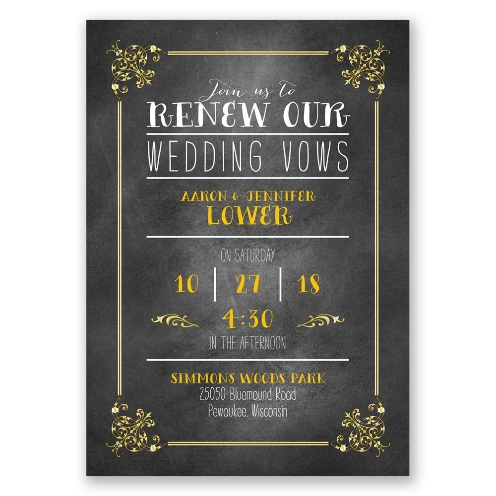 10 Nice Vow Renewal Ideas 10 Years pretty borders vow renewal invitation invitationsdawn 2020