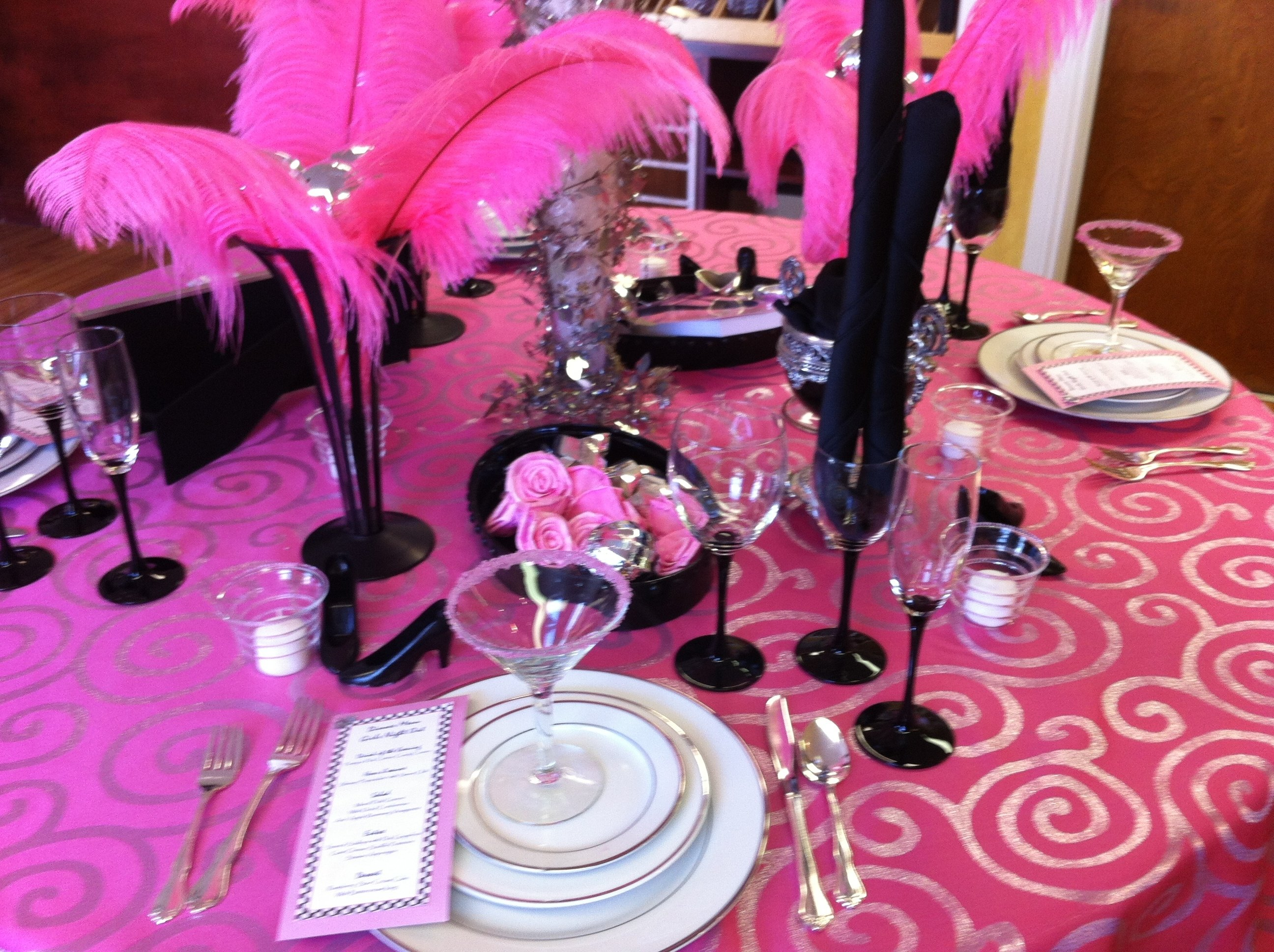 "pretty in pink""/girls night out party signatureeventsbybarbie"
