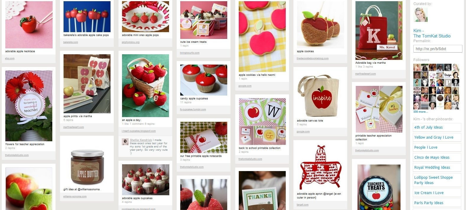 pretty on pinterest} teacher appreciation ideas! | the tomkat studio