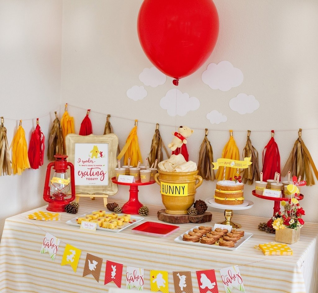10 Wonderful Classic Winnie The Pooh Baby Shower Ideas pretty winnie the pooh baby shower ideas popsugar moms 2020