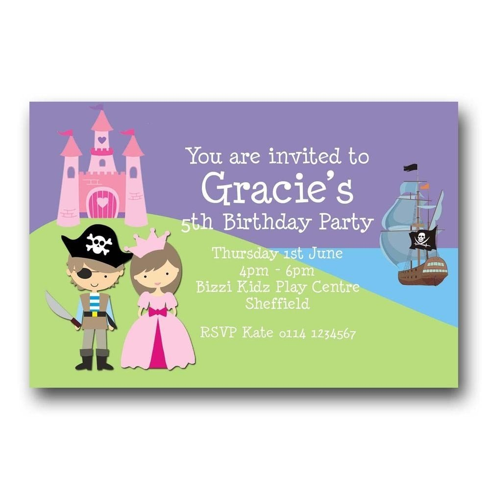 10 Awesome Princess And Pirate Party Ideas princess and pirate party invitations free home party ideas 2020