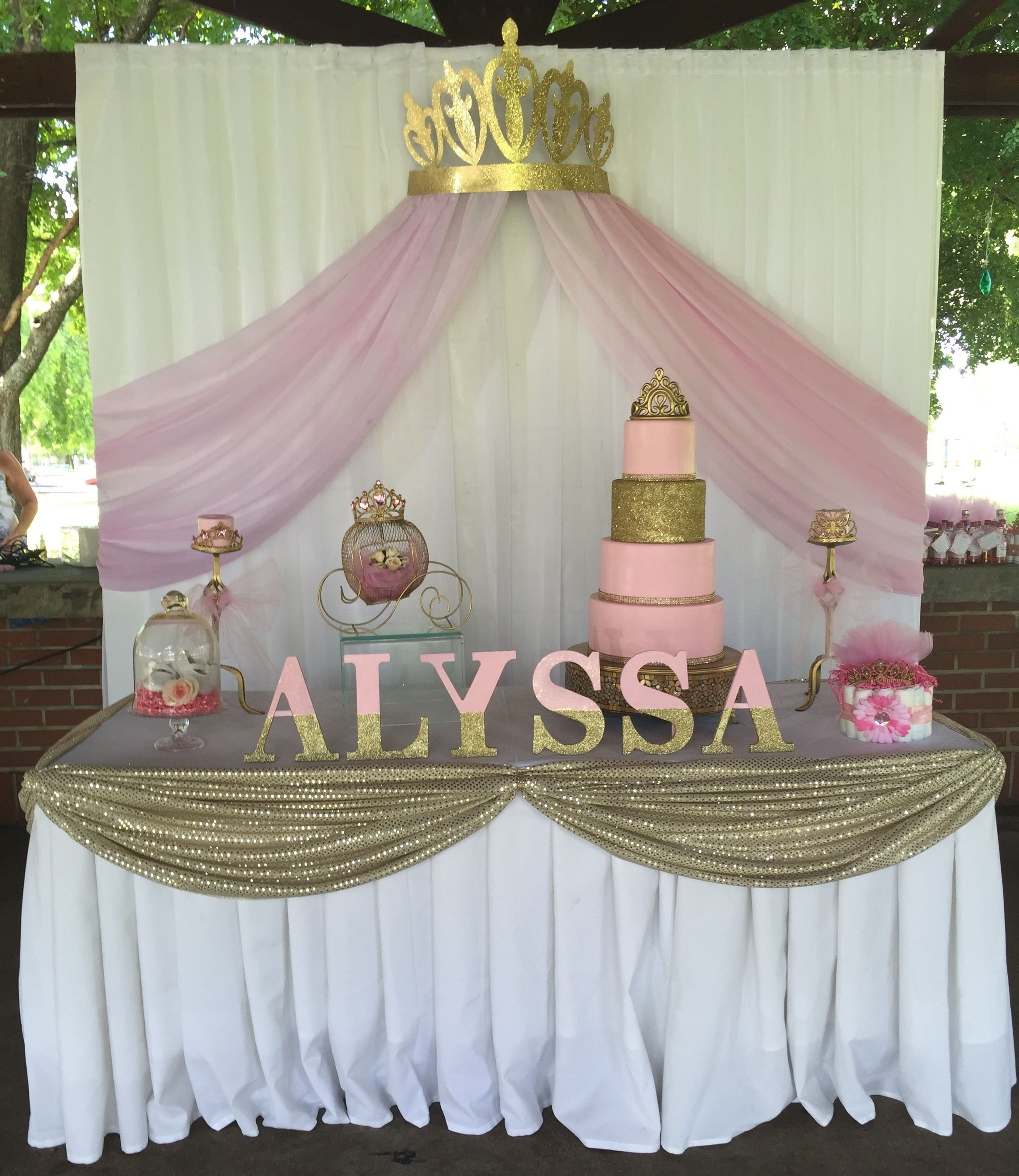 10 Spectacular Princess Theme Baby Shower Ideas princess baby shower cake table backdrop princess baby shower