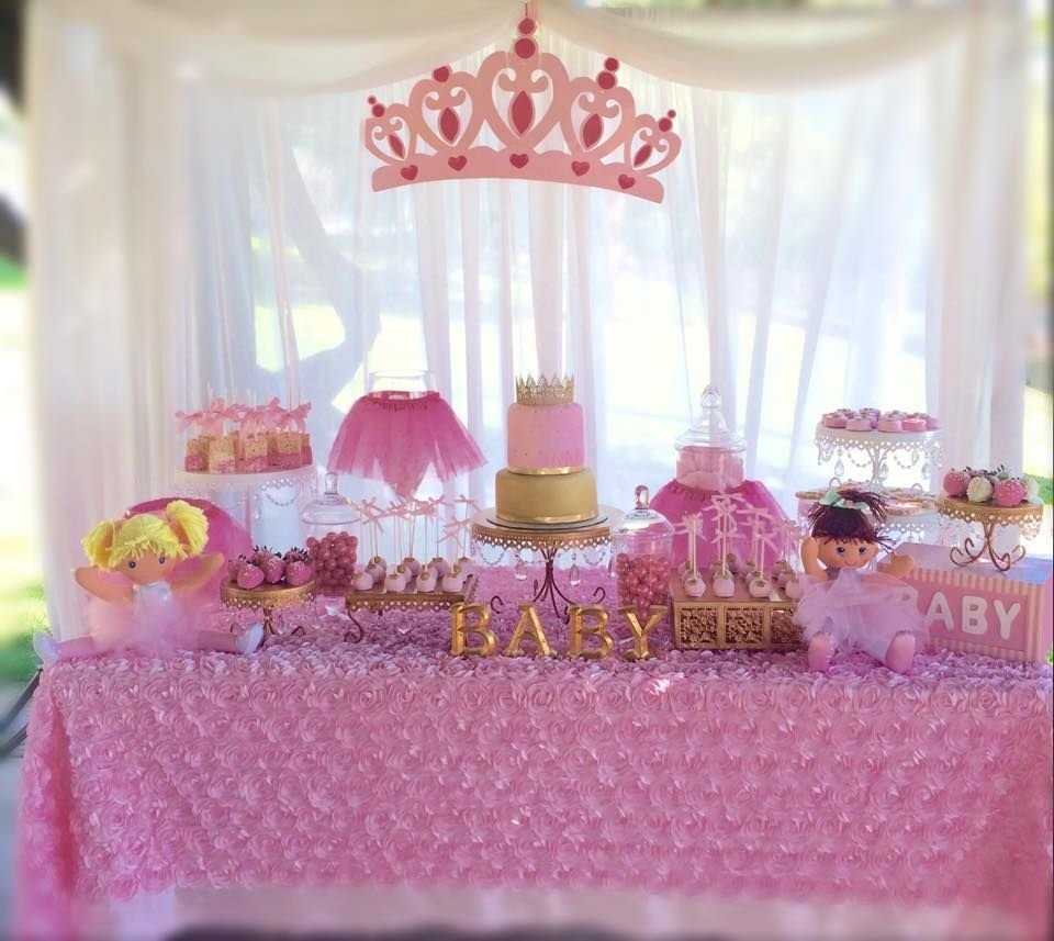 princess baby shower, tutu and tiara baby shower | baby shower