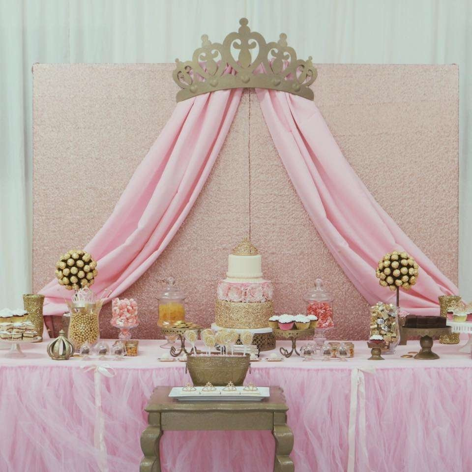 10 Spectacular Princess Theme Baby Shower Ideas princess glam baby shower party ideas photo 1 of 10 catch my party