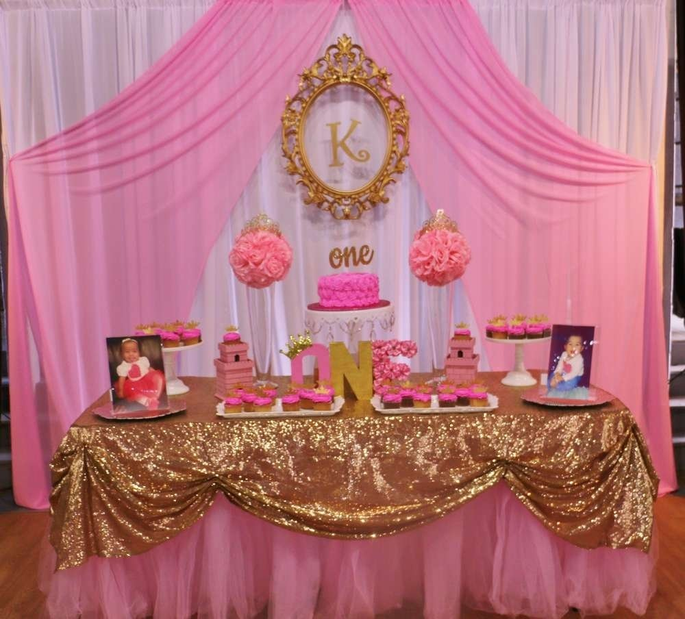 10 Perfect Princess 1St Birthday Party Ideas princess glitz pink gold birthday party ideas photo 3 of 13 2020