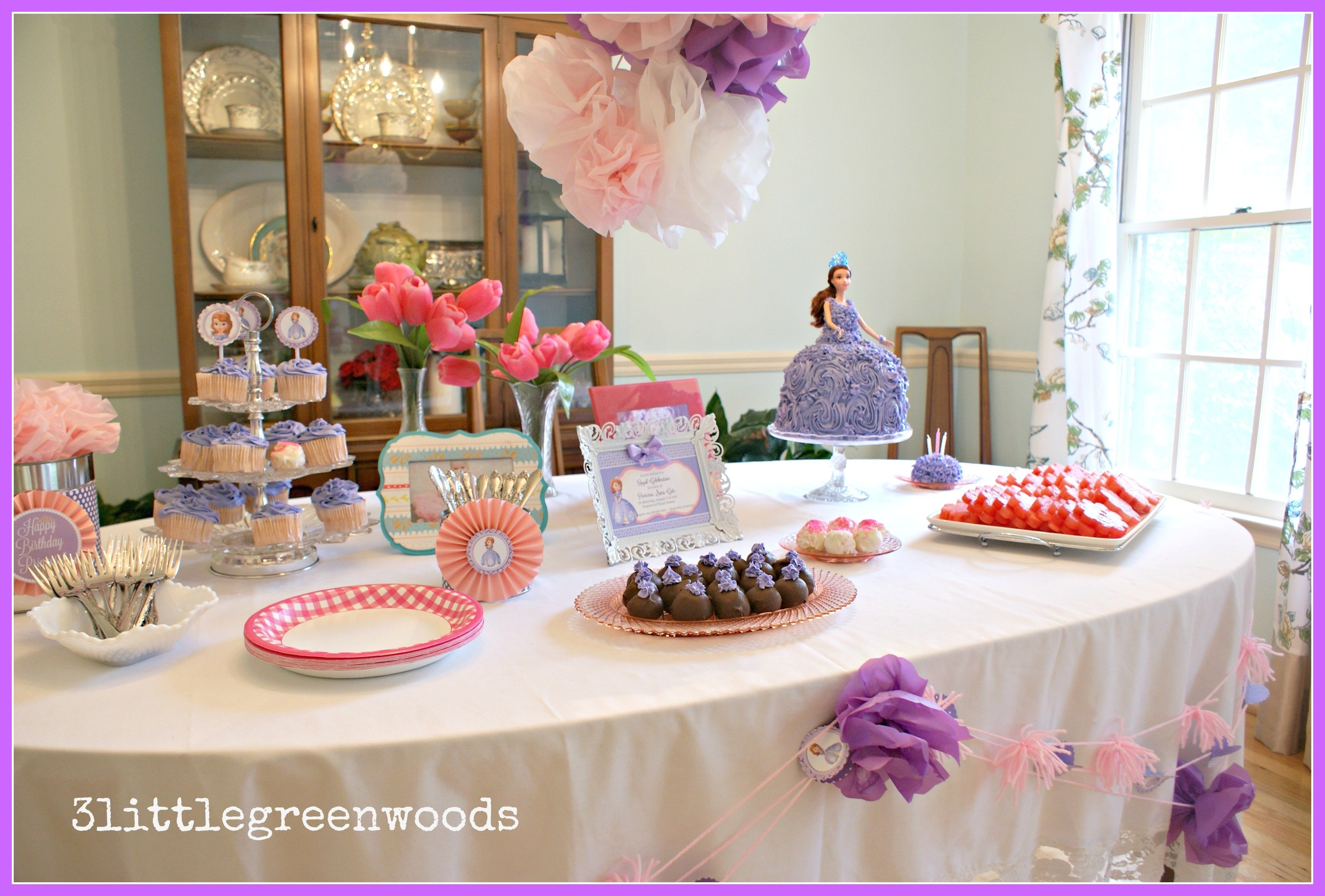 10 Attractive 1St Birthday Princess Party Ideas princess party wall decorations new sofia the first birthday party 2021