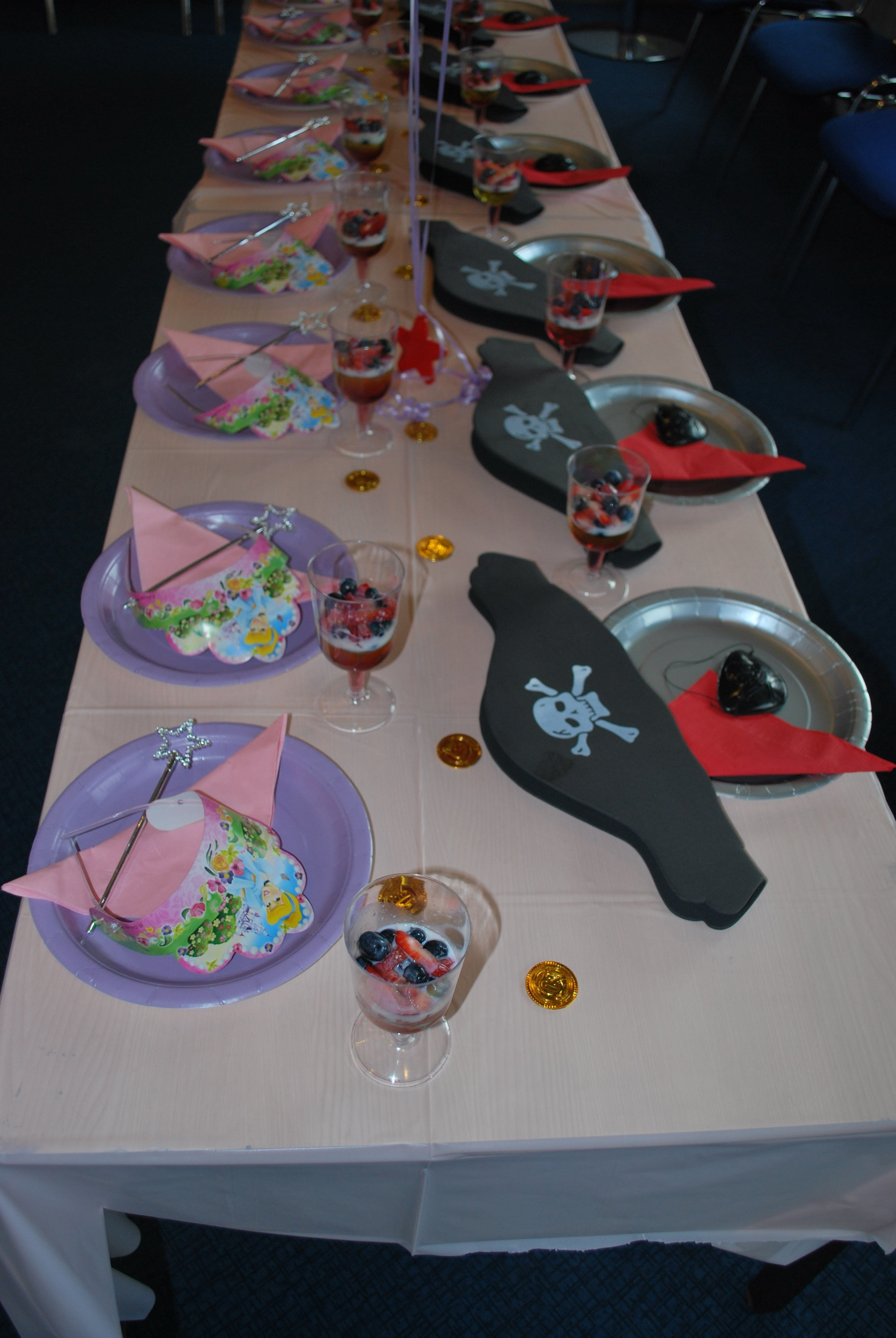 princess & pirates party decoration ideas from www.easykid.co.uk