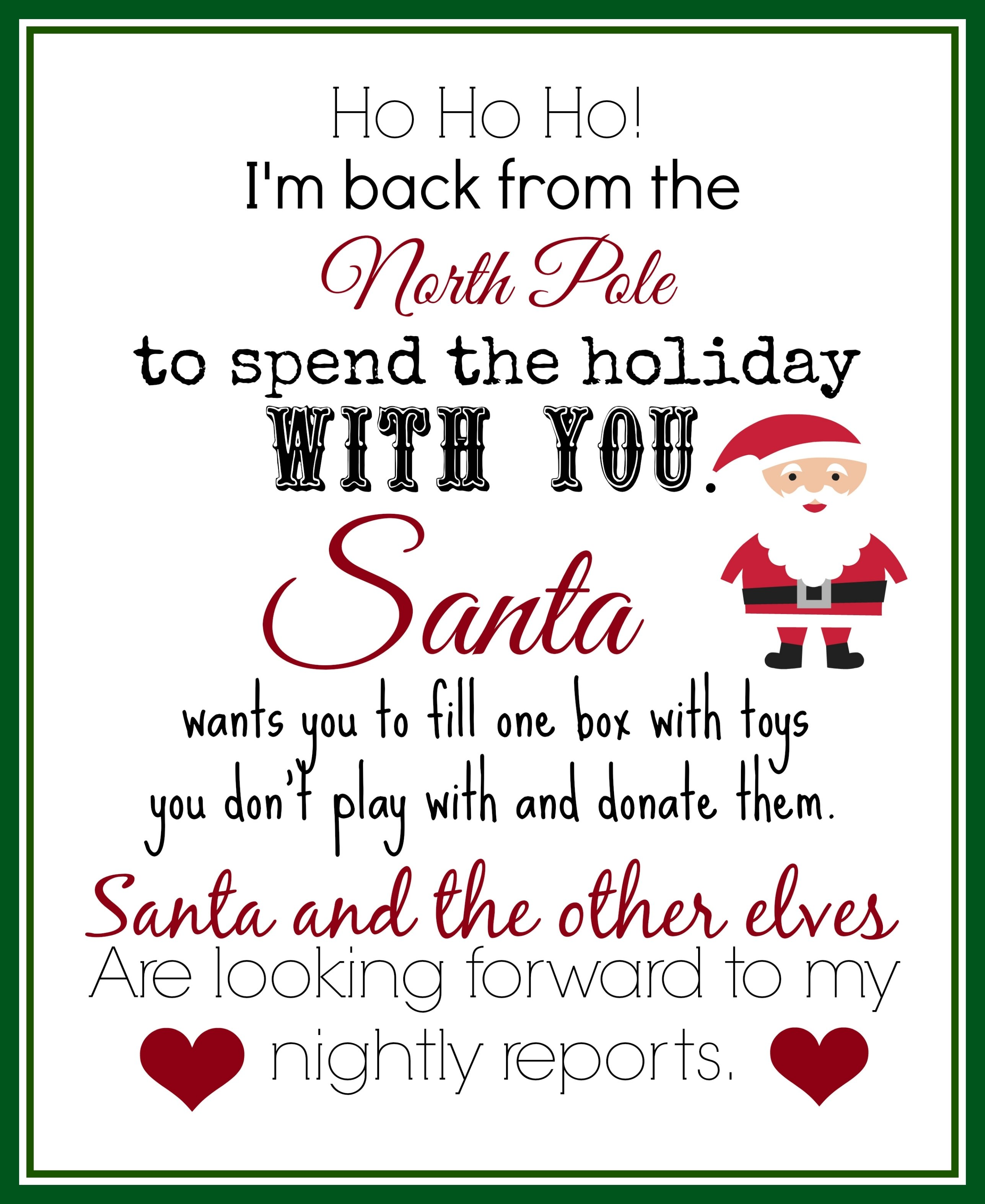 10 Stunning Letter From Elf On The Shelf Idea print this elf returns letter with instructions to donate toys 2020