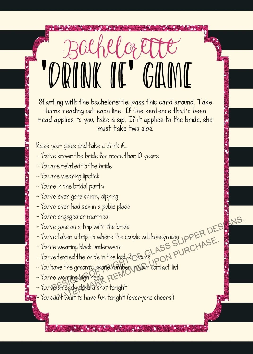 10 Spectacular Fun Ideas For A Bachelorette Party printable bachelorette game bachelorette drinking game 2021