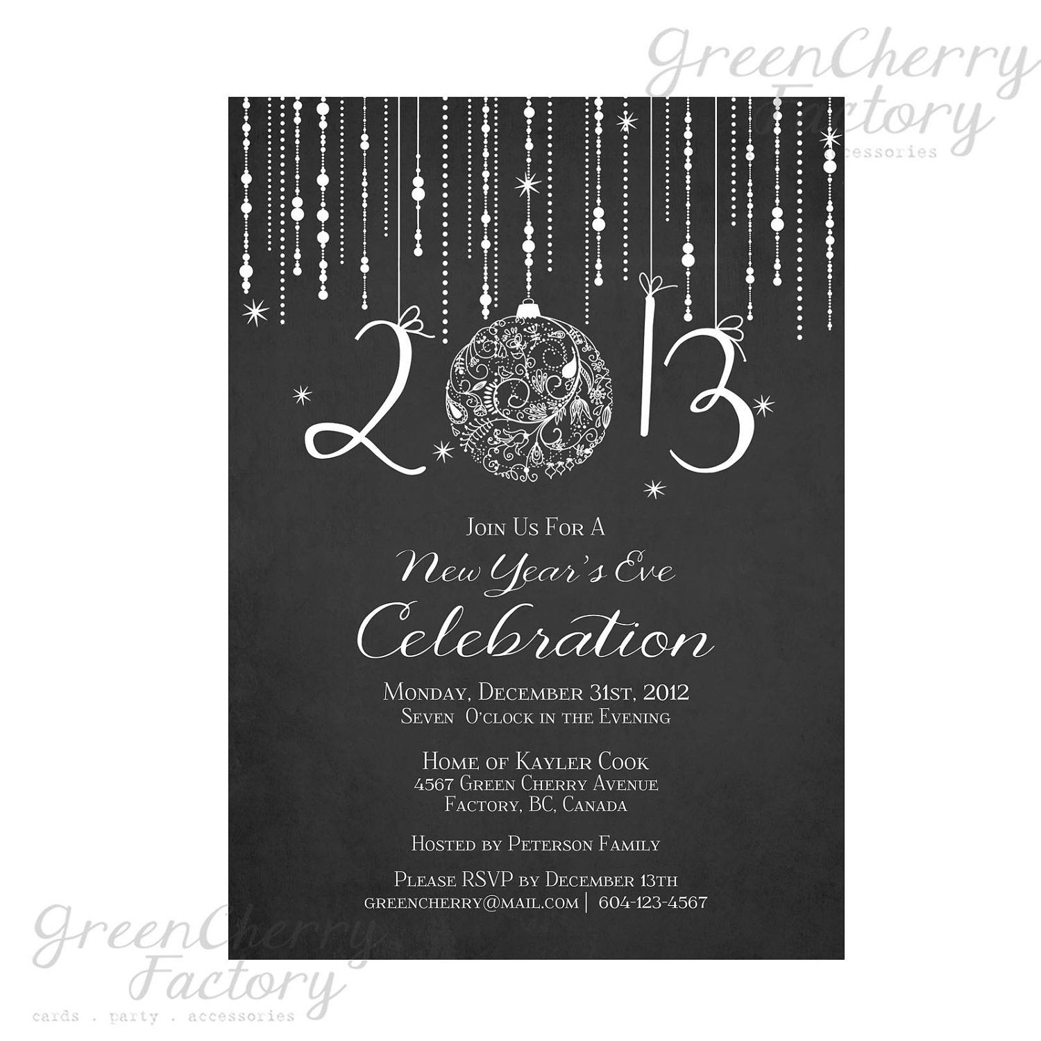 10 Elegant New Years Eve Invitation Ideas printable chalkboard new year invitation elegant new years eve 2020