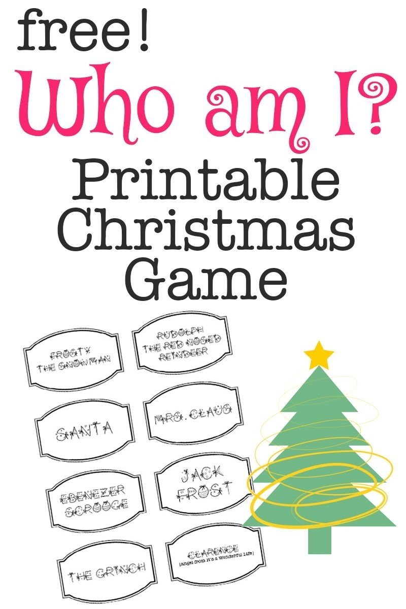 10 Most Recommended Christmas Game Ideas For Adults printable christmas game who am i printable christmas games