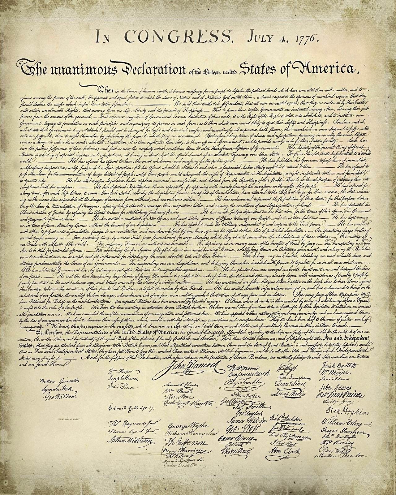 10 Lovable Main Idea Of Declaration Of Independence printable copy declaration independence and simple free 3 2020