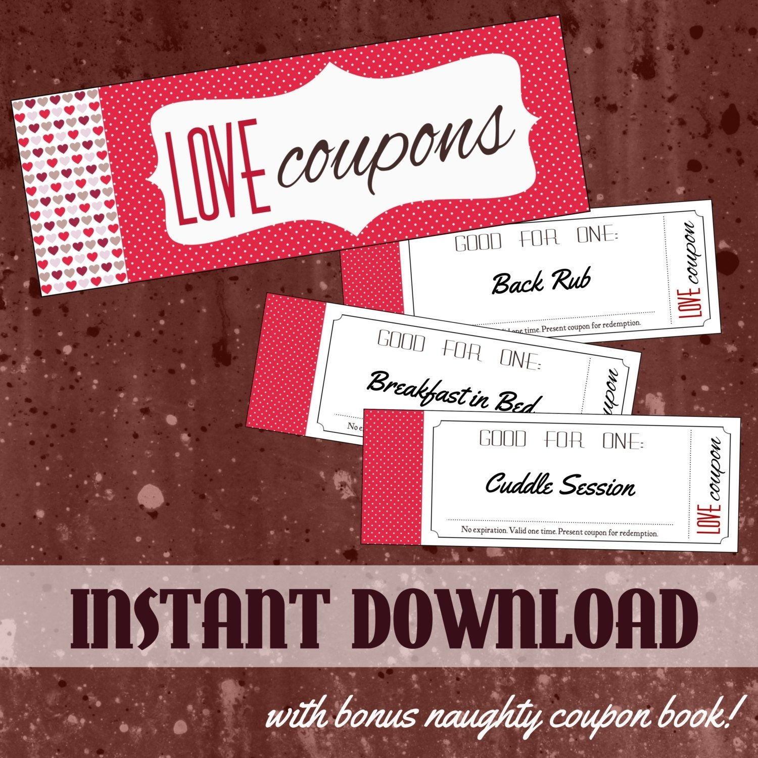 10 Beautiful Naughty Coupon Ideas For Boyfriend printable love coupon book for him or for her with bonus naughty 4 2020