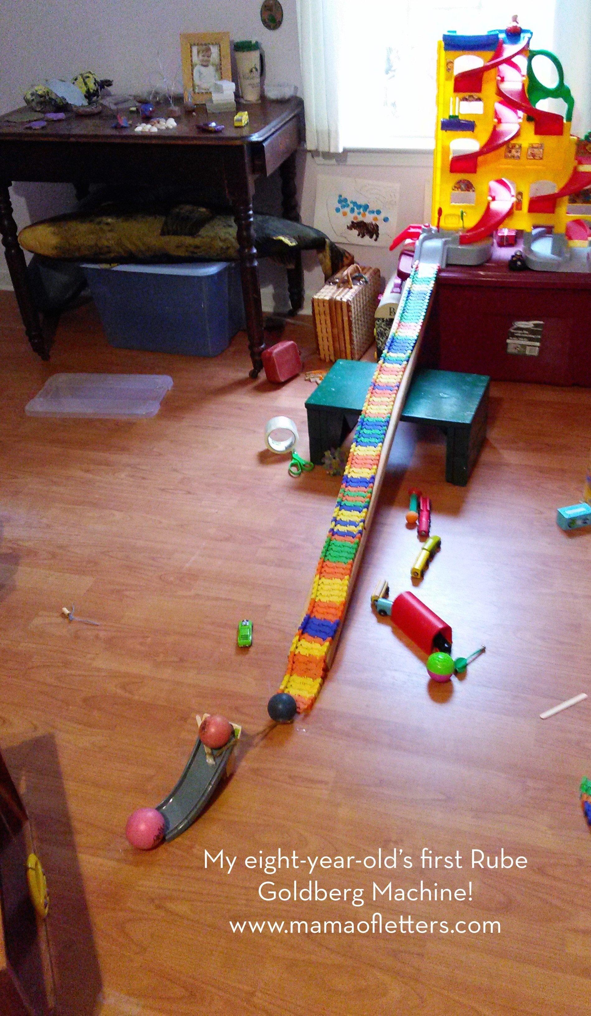 10 Fabulous Rube Goldberg Machine Ideas 10 Steps project based homeschooling rube goldberg machine mama of letters 3 2020