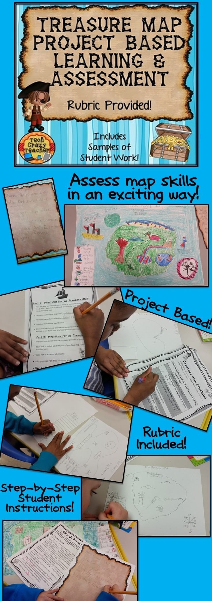 10 Trendy Project Based Learning Ideas For Middle School project based learning treasure map map skills treasure maps and 2021
