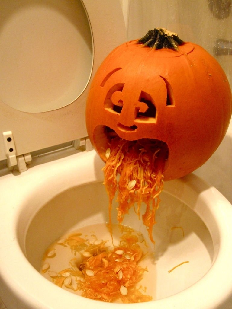 10 Perfect Easy Fun Pumpkin Carving Idea puking pumpkin