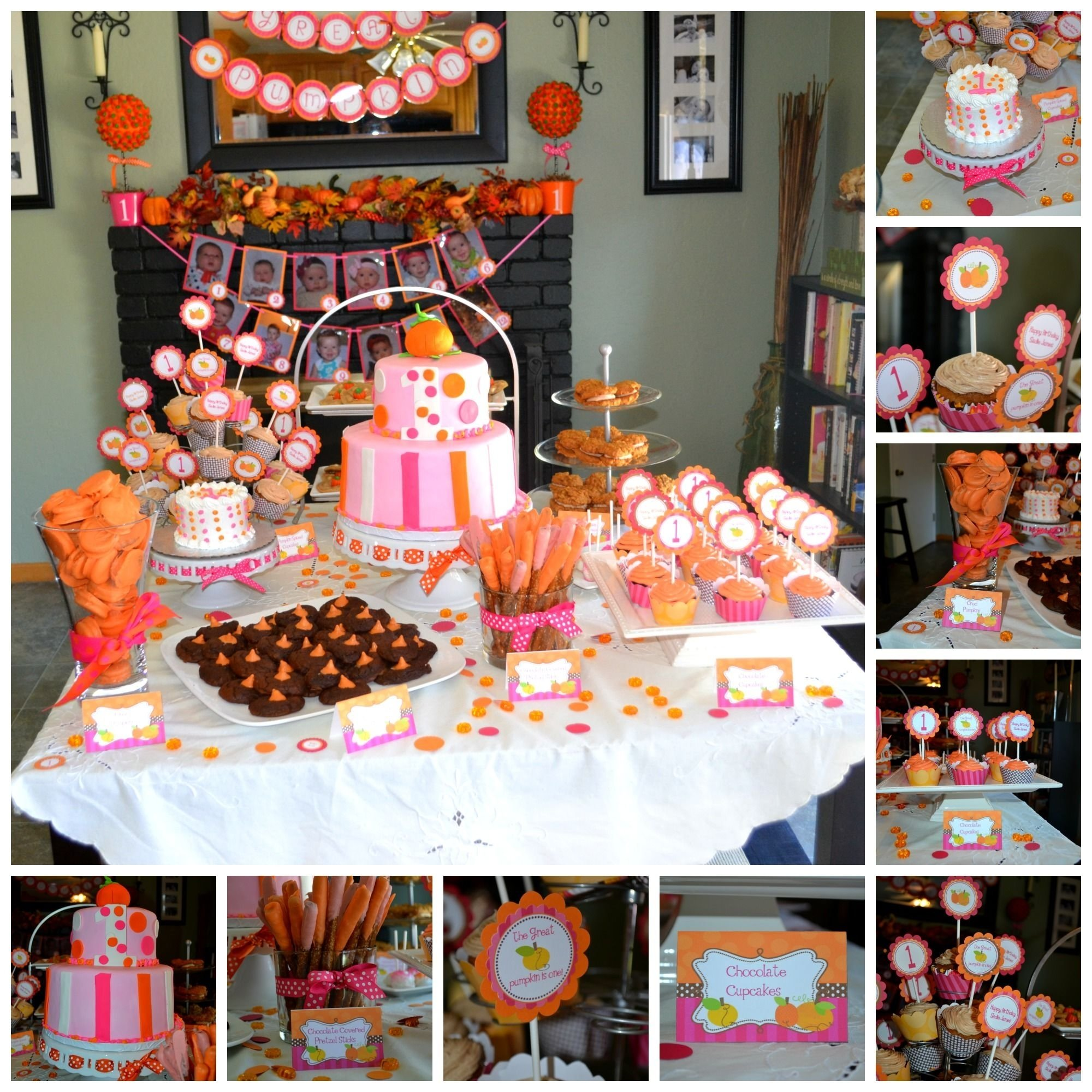 10 Stylish Fall First Birthday Party Ideas pumpkin birthday dessert table party ideas pinterest birthday