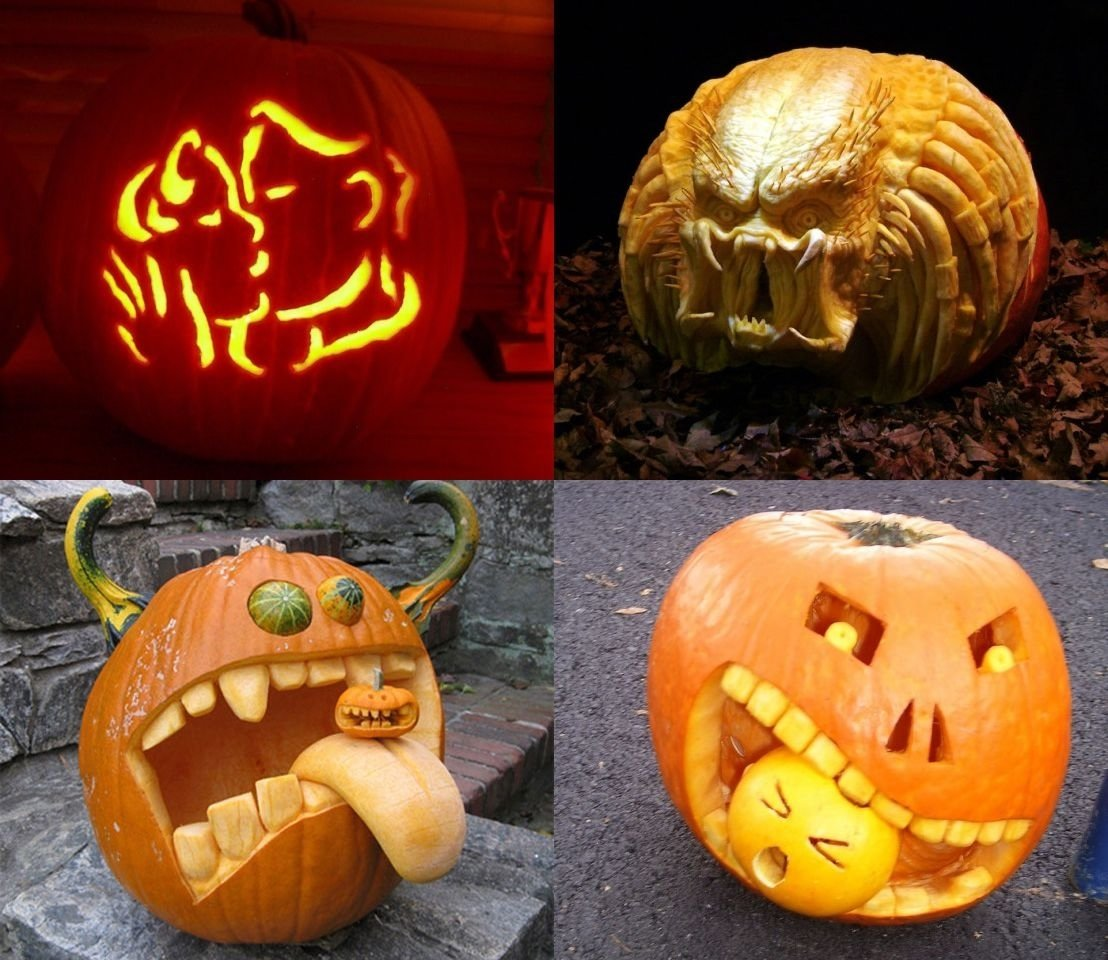 10 Attractive Pumpkin Decorating Ideas Without Carving pumpkin carving ideas coolest creative funny kitchentoday 1 2020