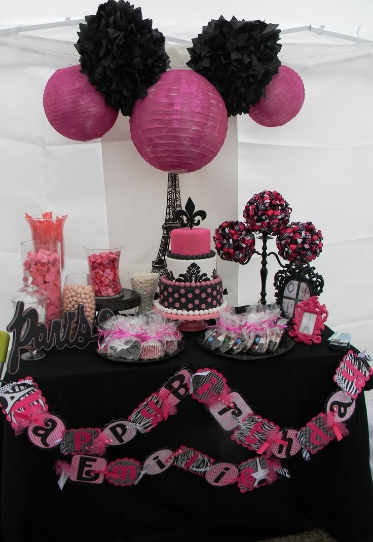 10 Beautiful Pink And Black Birthday Party Ideas purple and black birthday party decor prom dresses and beauty 2020