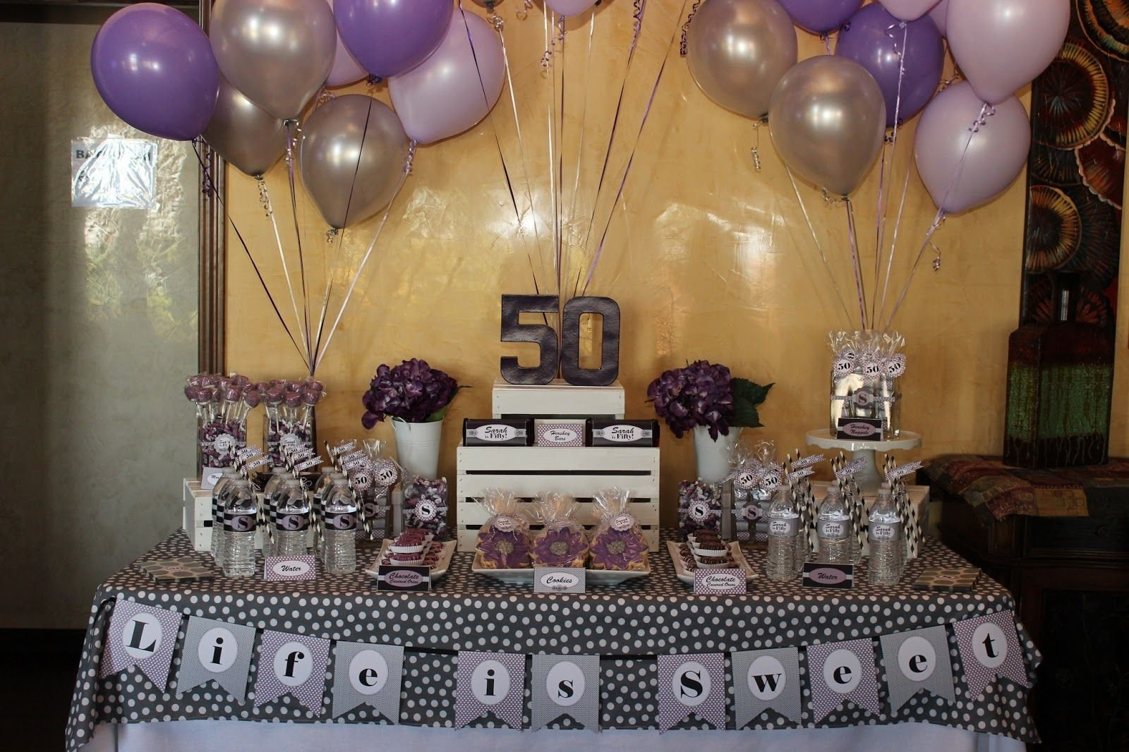 10 Fashionable 50 Birthday Ideas For Mom Purple And Gold P A R T Y B C I Gotta