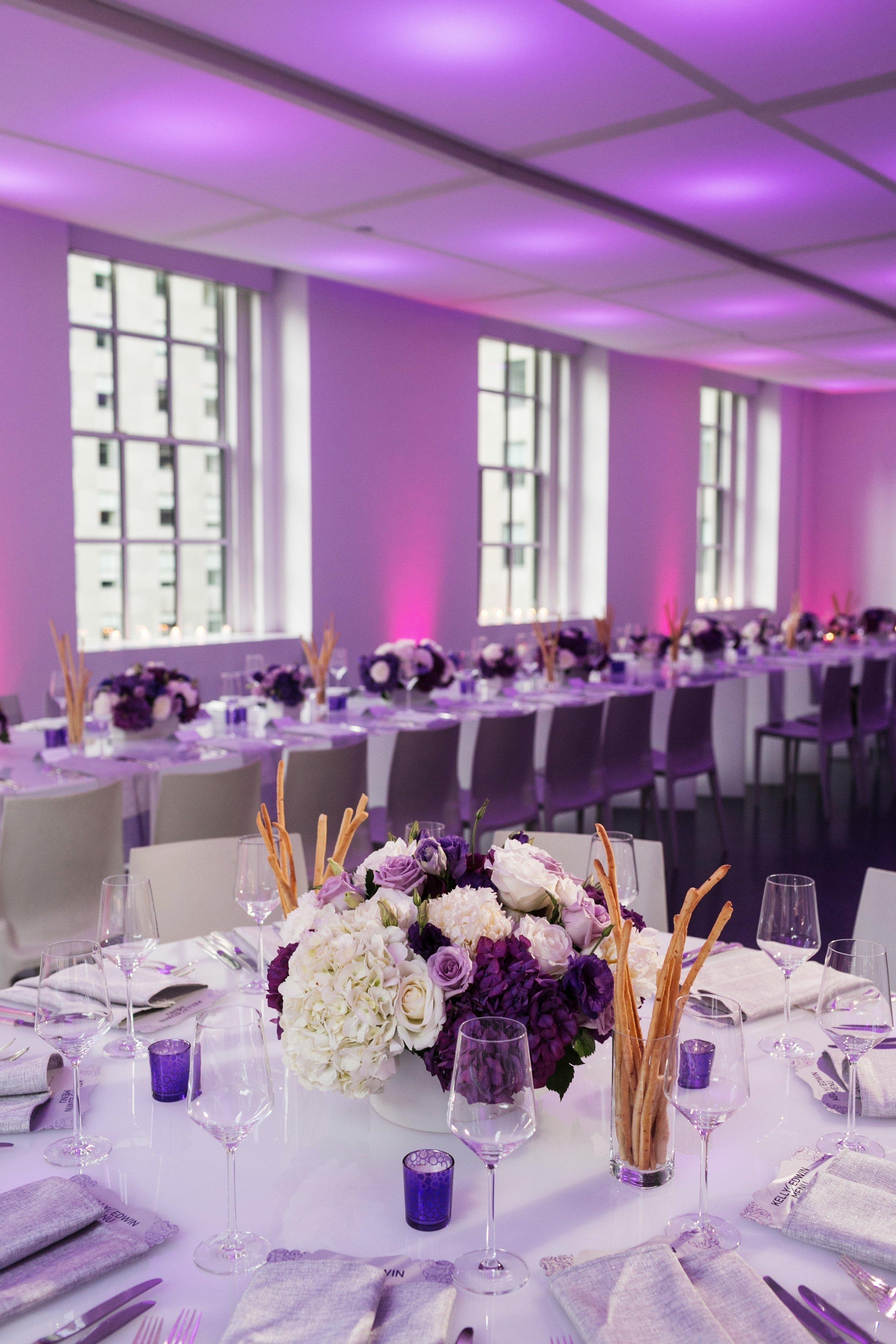 10 Trendy Purple And White Wedding Ideas purple and white wedding reception decor centerpieces 50th 2021