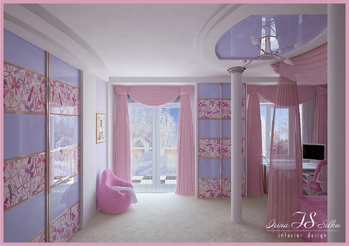10 Lovely Pink And Purple Room Ideas purple bedroom ideas with pink curtain decobizz 1 2020