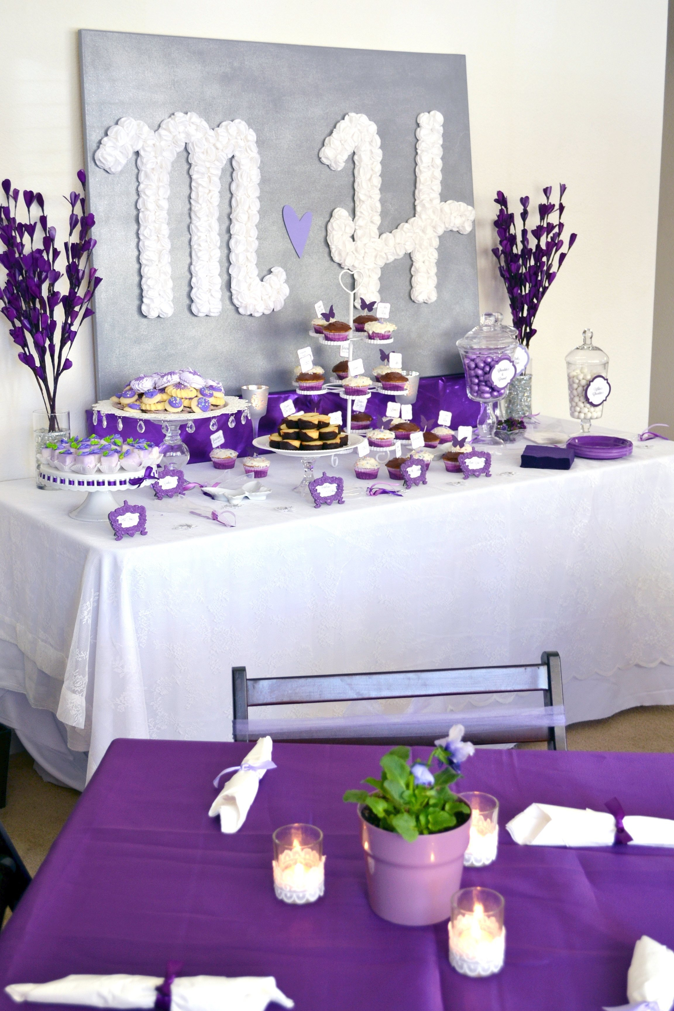 10 Stunning Decorating Ideas For Bridal Shower purple bridal shower decoration ideas all in home decor ideas