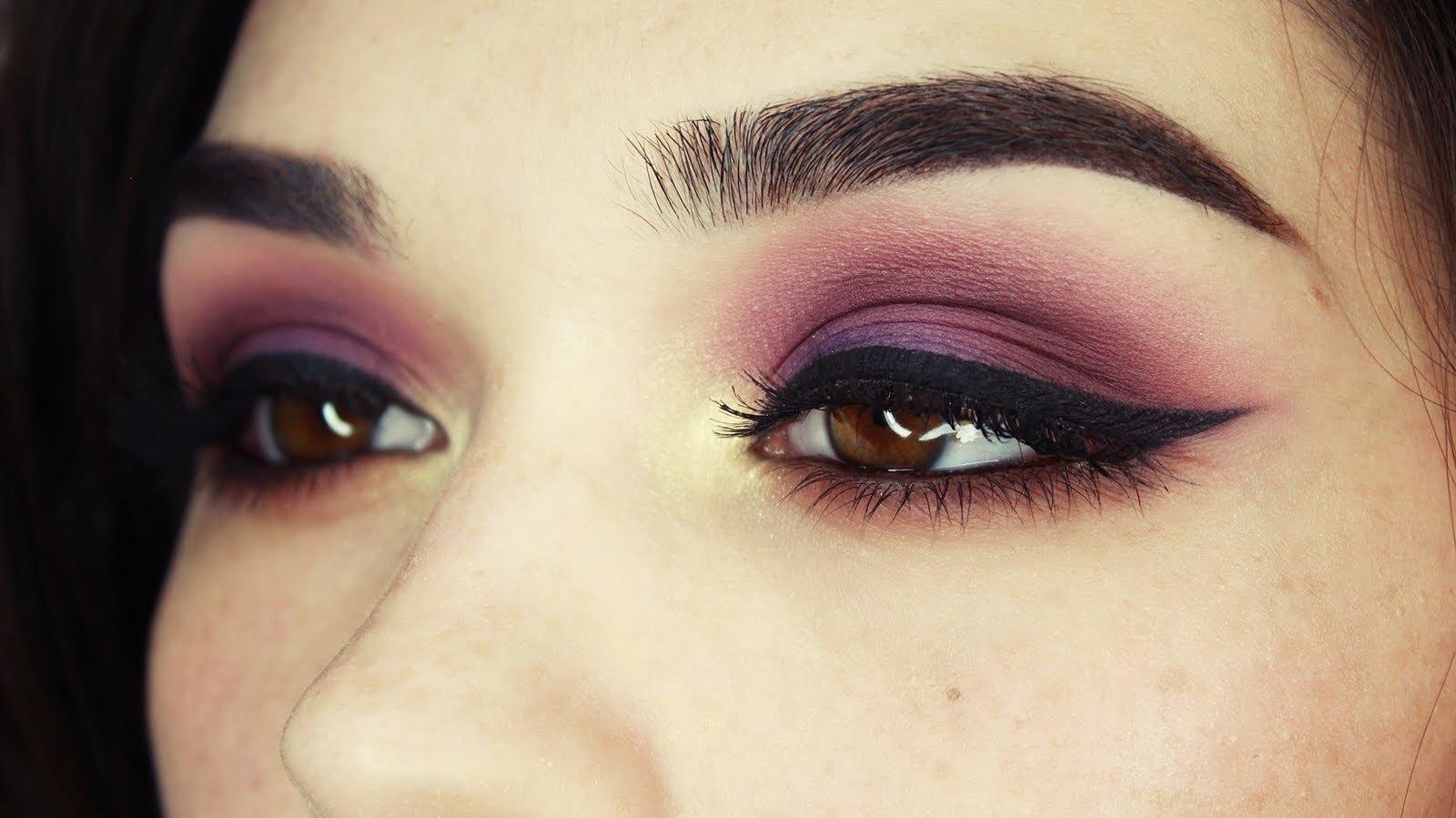 10 Lovable Makeup Ideas For Dark Brown Eyes purple gold brown eye makeup tutorial youtube 2021