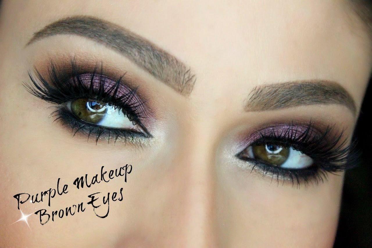 10 Lovable Makeup Ideas For Dark Brown Eyes purple makeup for brown eyes eye makeup tutorial youtube 2021