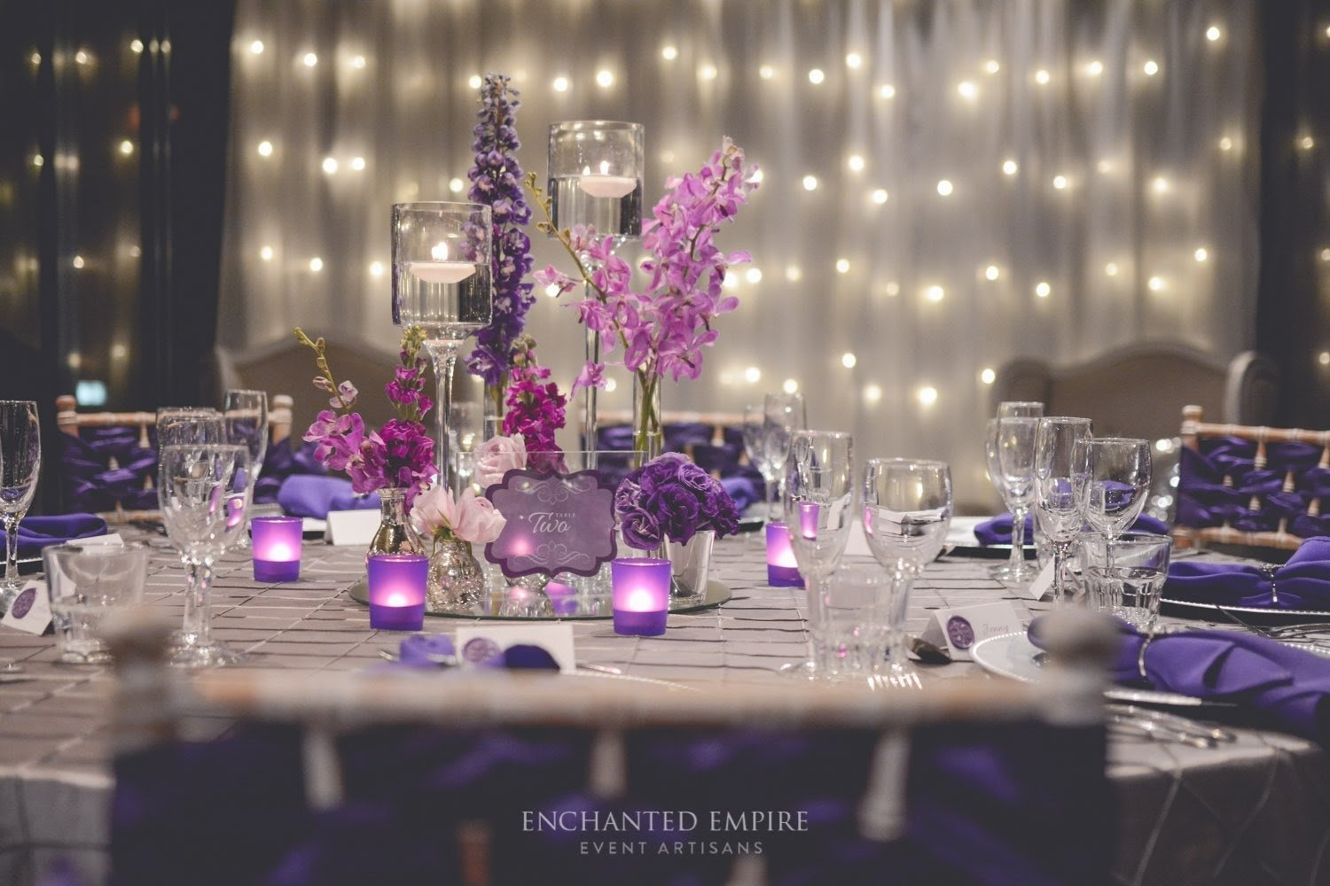 10 Fabulous Purple And Silver Wedding Ideas purple silver wedding styledenchanted empire event artisans