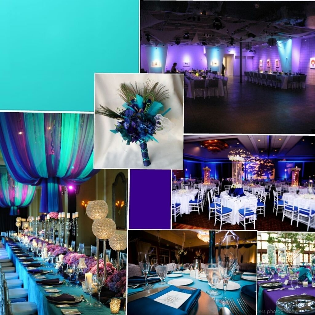 purple & teal theme wedding ideas reception | future wedding
