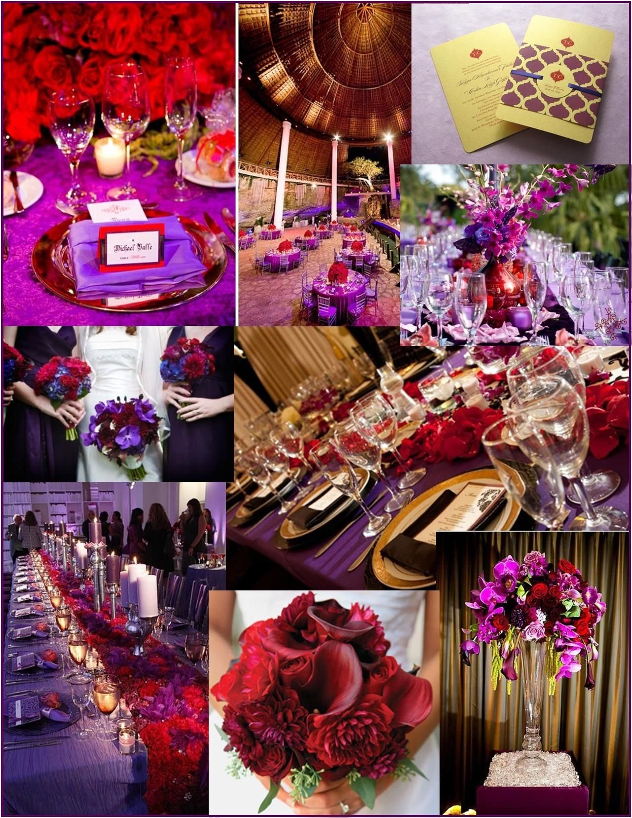 purple+red+wedding | red wedding ideas | pretty peacock paperie