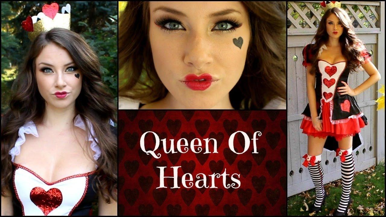 10 Trendy Queen Of Hearts Makeup Ideas queen of hearts halloween makeup tutorial youtube