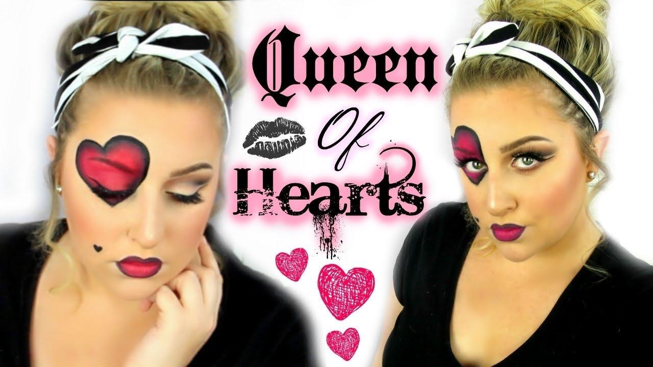 10 Trendy Queen Of Hearts Makeup Ideas queen of hearts makeup tutorial youtube